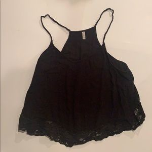 Free People Open-Side Black Cami - Size Large